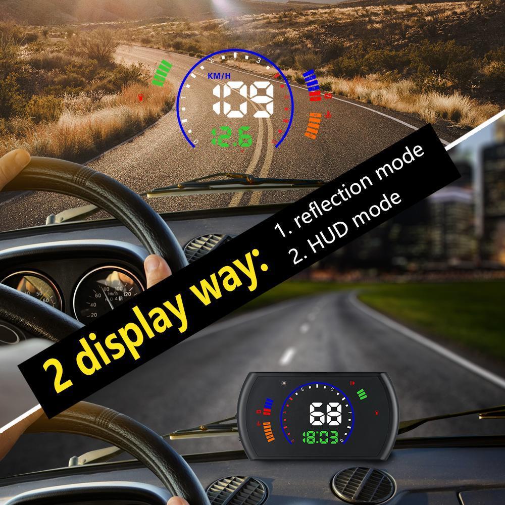 S600 5.8 pouces voiture tête haute affichage OBD HUD ordinateur de bord hud affichage voiture électronique obd2 voiture compteur de vitesse pare-brise projecteur