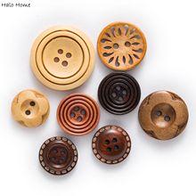 30 шт коричневые твердые деревянные ткани Покрытые Кнопки для шитья скрапбукинга одежда ремесла ручной работы Декор Аксессуары микс 18-30 мм
