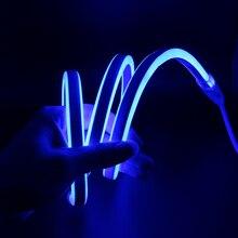 цены AC220V 2835 Neon led strip light 120led/M Flexible Fairy lighting EU plug led sign board tube rope string IP68 Waterproof