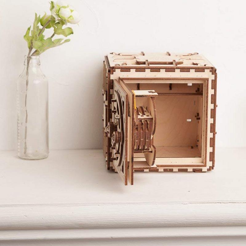 Bricolage créatif 3D assemblage en bois Puzzle jouet serrure innovante boîte au trésor Transmission mécanique romantique saint valentin cadeau - 5