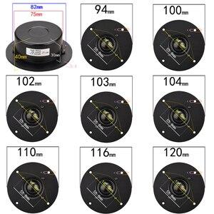 Image 2 - HIFIDIY LIVE Q1S 4.5 بوصة 4.7 مكبر الصوت وحدة الألومنيوم لوحة أسود الحرير غشاء 6 OHM30W ثلاثة أضعاف مكبر الصوت 110/116/120 مللي متر
