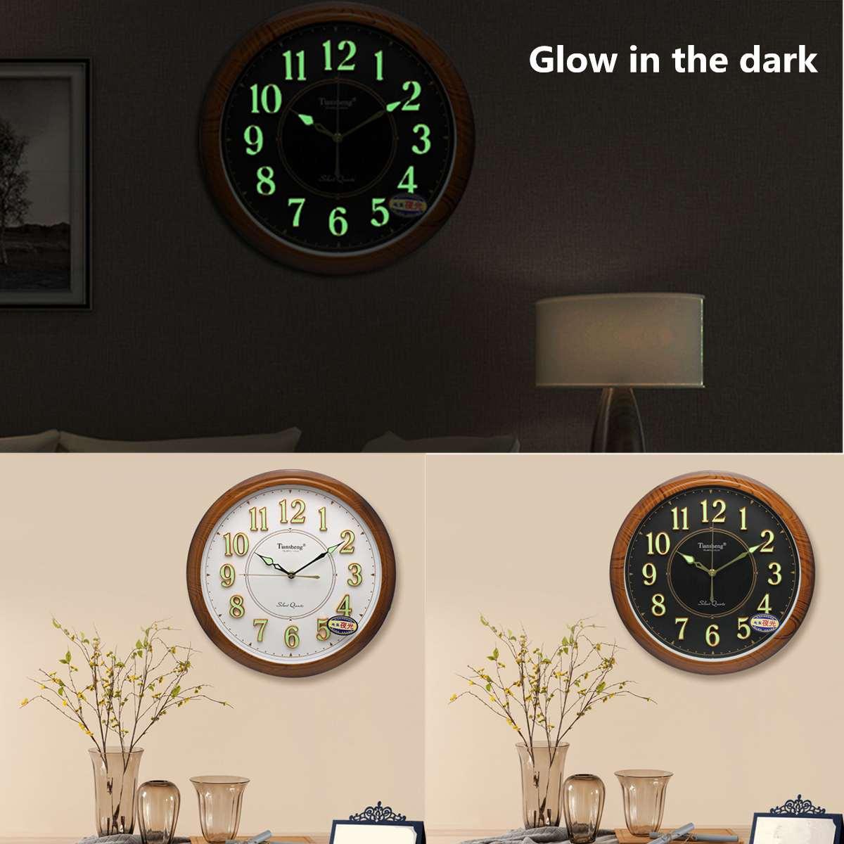 Glow Dark Hanging Clocks Europe Modern Style Wall Clocks