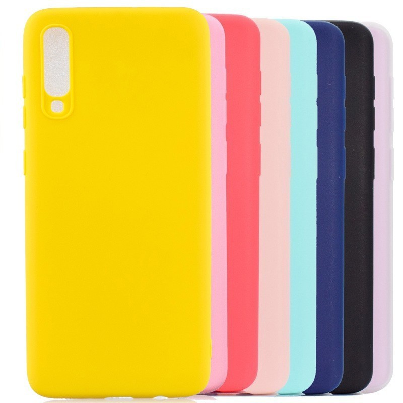 Multicolor <font><b>Silicone</b></font> Phone <font><b>Case</b></font> Cover For <font><b>Samsung</b></font> Galaxy A10 A20 A30 A40 A50 <font><b>A70</b></font> M10 M20 M30 A6 A7 A8 A9 2018 Plus J4 J6 J8 <font><b>Cases</b></font> image