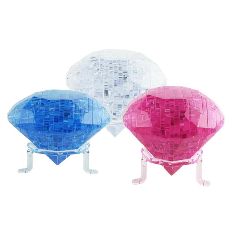 3D Crystal Diamond Jigsaw Puzzle Kids Child Brain Teaser Developmental Toy