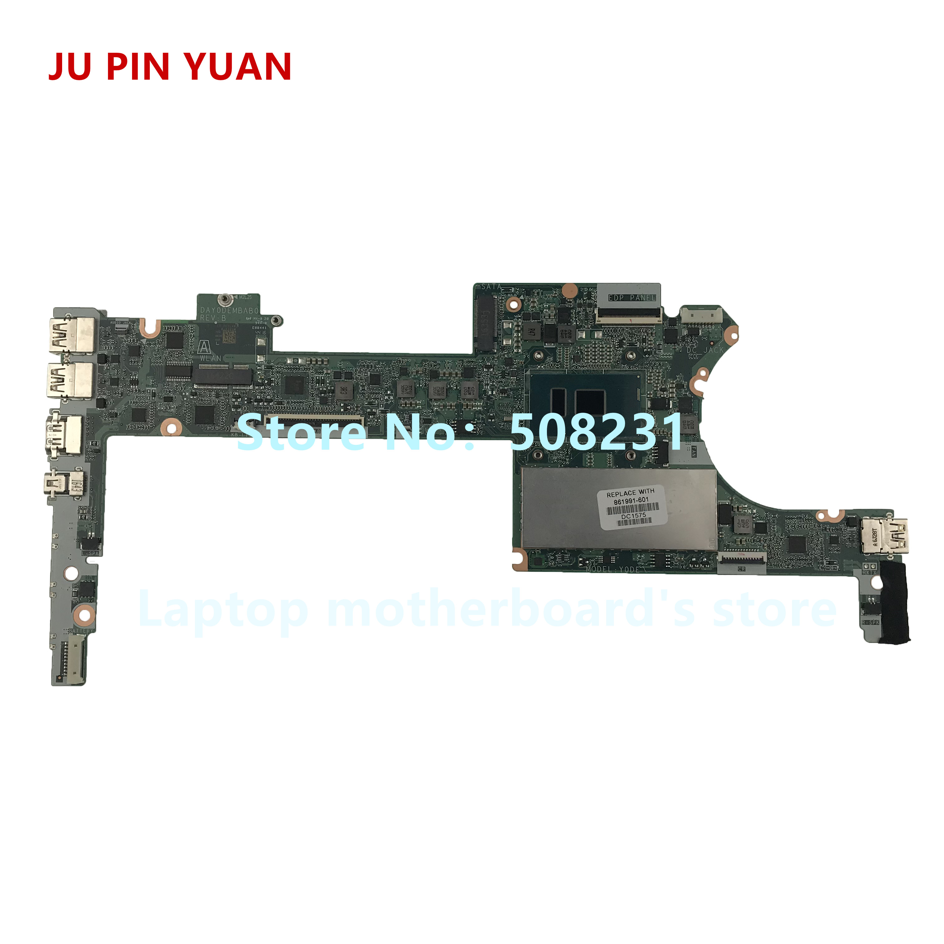 Computer & Office Ju Pin Yuan 861991-601 Day0dembab0 Laptop Motherboard For Hp Spectre X360 G2 13-4100 System Board I5-6200u 8gb Fully Tested Diversified In Packaging