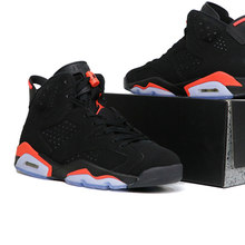 f977d4f432a1ba Men Jordan Retro Basketball Shoes 6 Women Shoe Black Infrared Outdoor Sport  Shoes Cushion Athletic Trainer