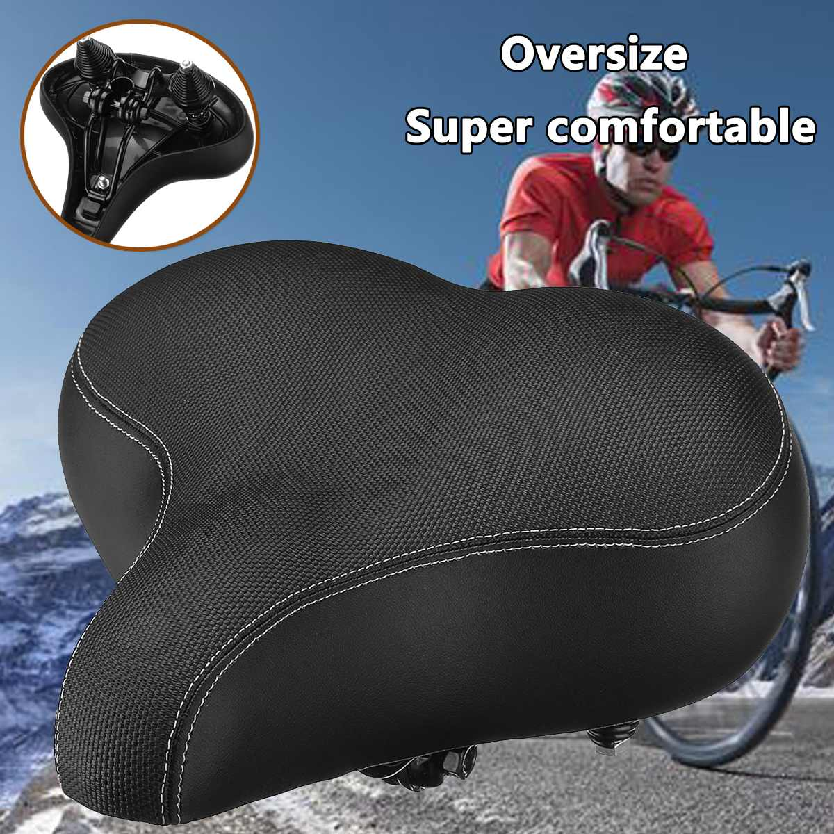 Male Female Thick Bike  MTB Sponge Pad Seat Saddle Cover Bike Cushion Pad HJX