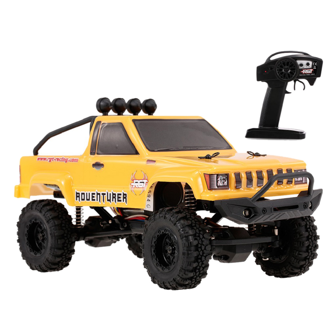 Rowsfire 1 Pcs RGT 1:24 2.4G 4WD 15km/H Simulation RC Off-Road Vehicle Climbing Car RTR Version - Yellow/Red