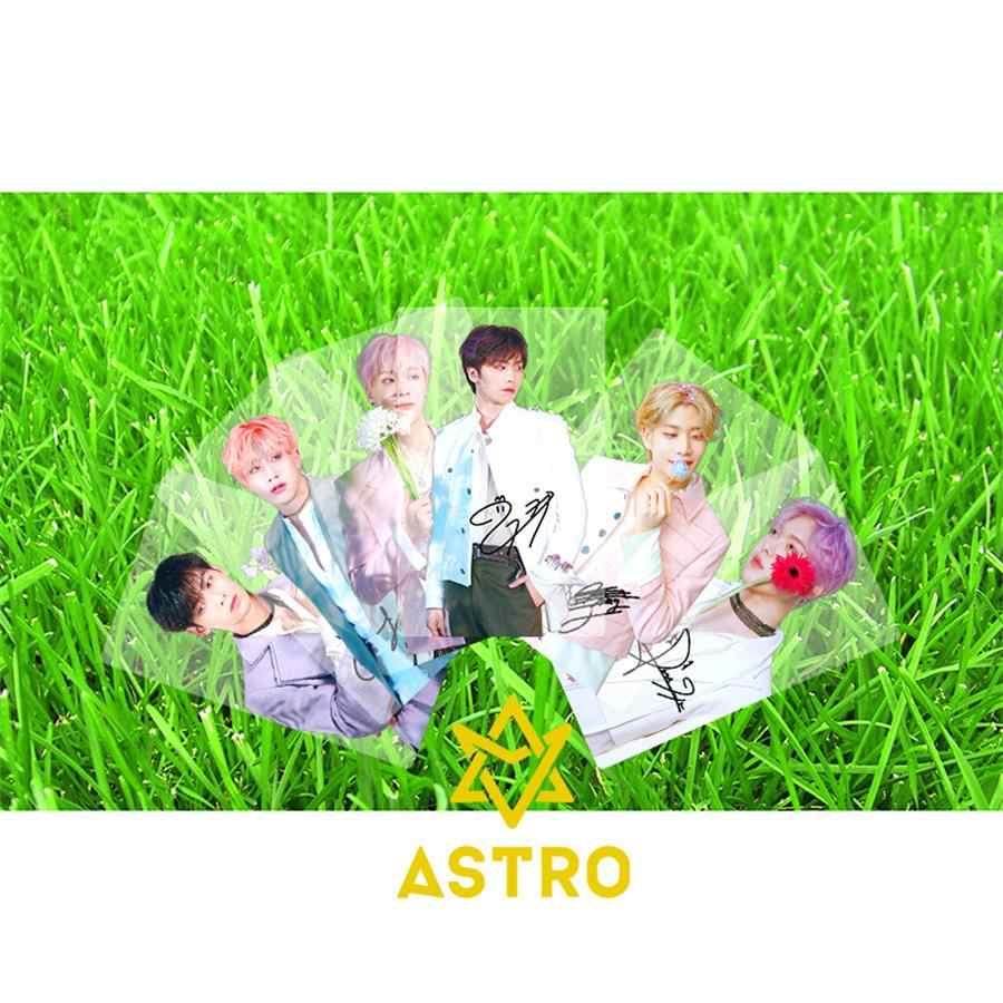 Kpop ASTRO All Light PVC Clear Photo Card Cha EunWoo Rocky Collective  Photocard HD Card 6pcs/set
