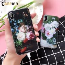 CASEIER Soft Silicon Case For Huawei P8 P9 P10 P20 Lite Honor 8 9 Floral Phone Cases For Huawei P20 P10 Honor 8 9 P9 LiteCover(China)