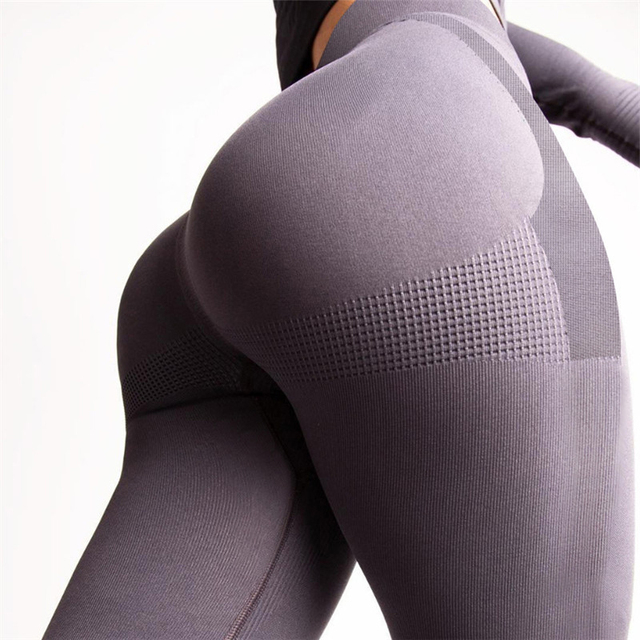 dd3555be711 Push Up Sweat Pants Stretch Work Out Control Leggings Seamless Women High  Waist Fitness Shape Slimming Jeggings Sportswear Booty