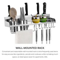 The Goods For Kitchen Storage Rack Wall Mounted Pot Pan Rack Multifunctional Bathroom Organizer Shelf Gap Holder