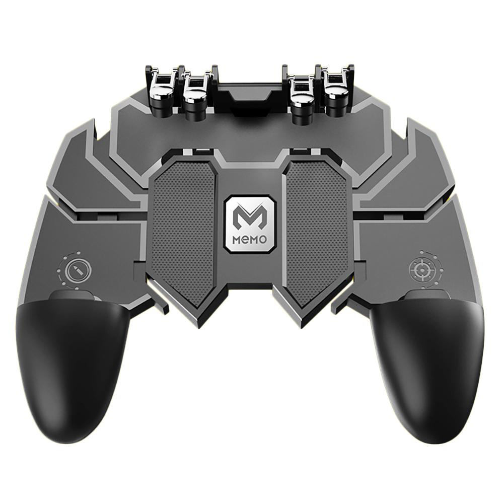 New Game Helper AK66 MEMO Mobile Phone Game Handle For PUBG Six Finger All-In-One Mobile Controller Game Gamepad L1 R1 Trigger