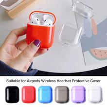 For Apple Airpods Case Box 1st 2nd Generation Half Transparent Protective Cover PC Hard Shell Box For Apple Air pods Airpod Case