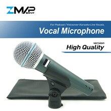 Высокое качество версия супер-кардиоидный BETA58 Live Vocals Караоке динамический BETA58A проводной профессиональный мини микрофон микрофона voicever Mic