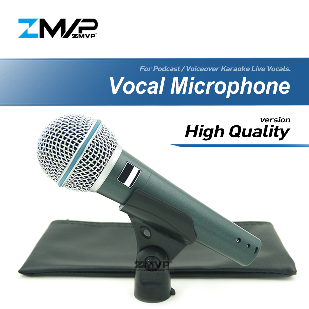 Versão de alta Qualidade Super-cardióide BETA58 Vocais Ao Vivo Narração BETA58A Podcast Microfone Com Fio Microfone Dinâmico Karaoke Microfone