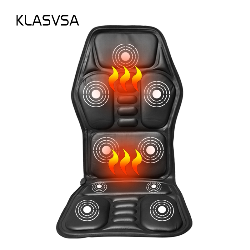 Heated Back Massage Seat Topper Car Home Office Seat Massager Heat Vibrate Cushion Back Neck Massage