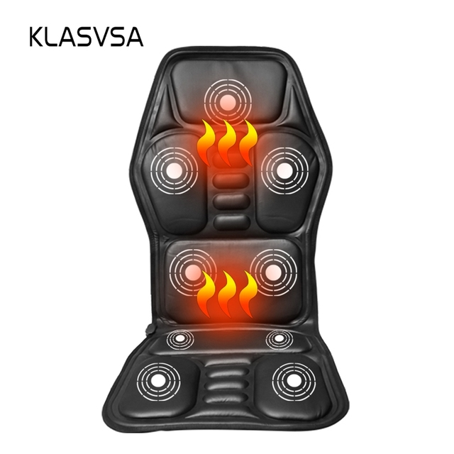 Heated Back Massage Seat Topper Car Home Office Seat Massager Heat Vibrate Cushion Back Neck Massage Chair Massage Relaxation