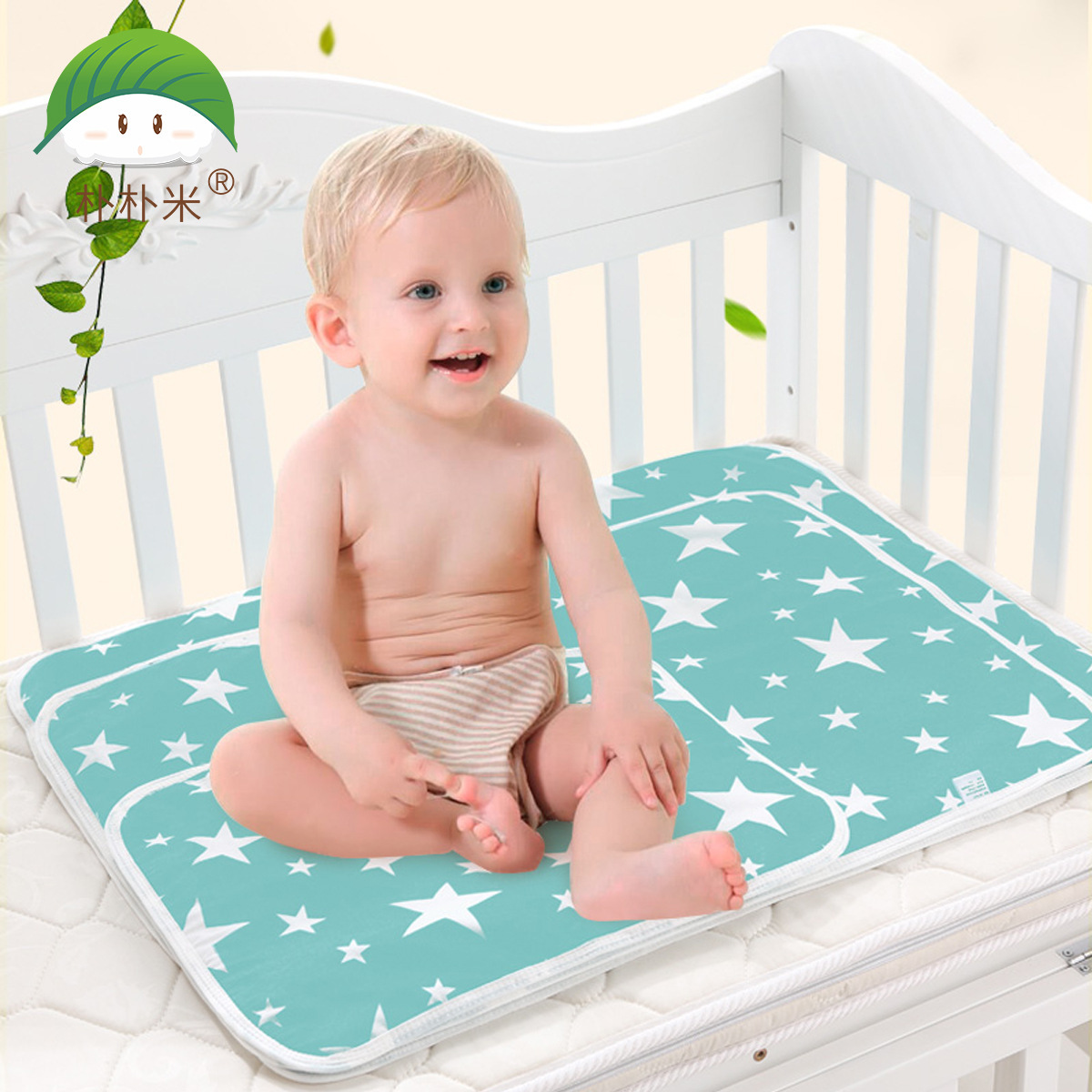 Baby Changing Mat Cartoon Cotton Waterproof Sheet Baby Changing Pad Diapers Urinal Game Play Cover Baby Mattress Vivid And Great In Style Changing Pads & Covers