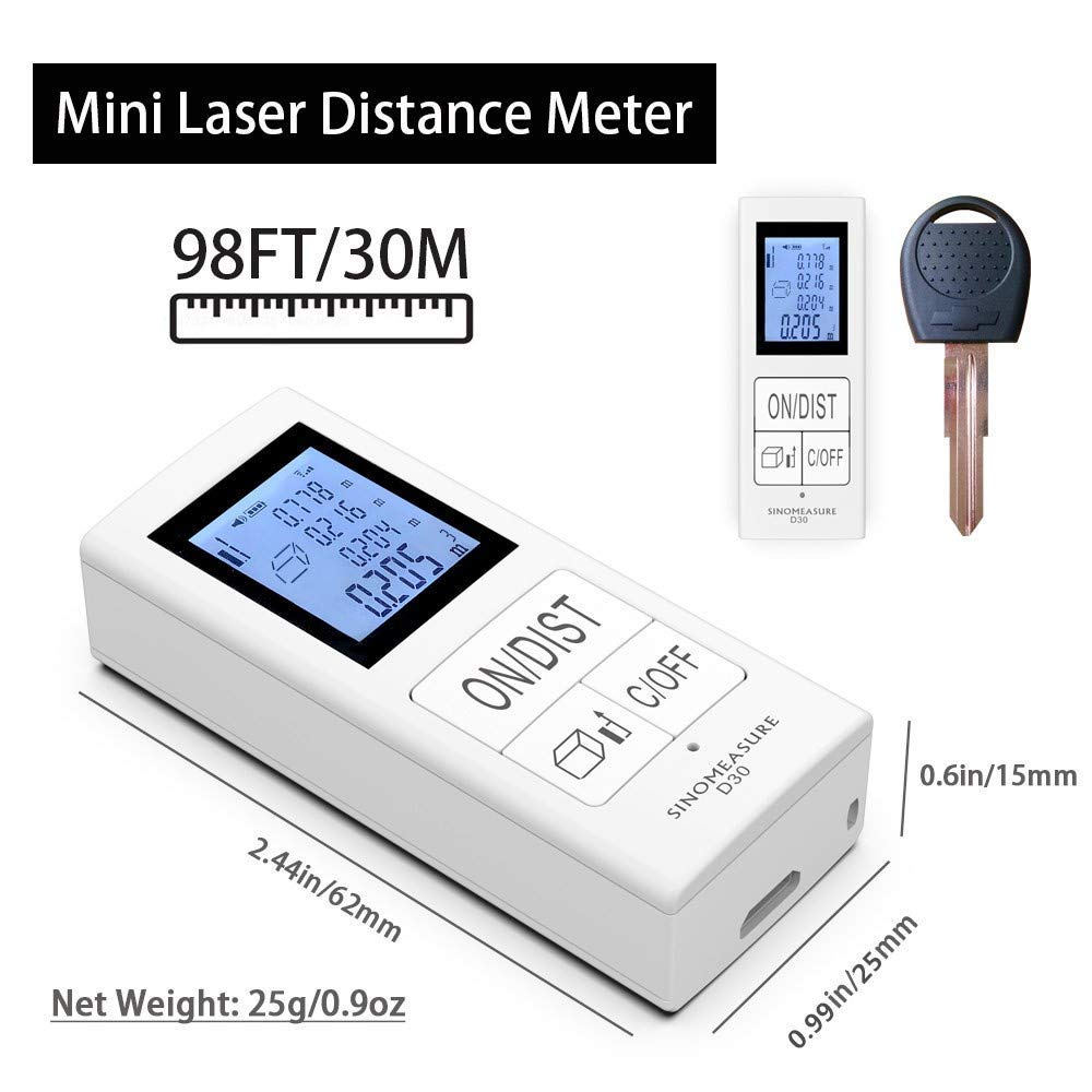 Mini Digital laser distance meter Rechargeable Measure 98 Ft/30M Sino Measure Home Use Measurement Tool 0.03-30m rangefinder Mini Digital laser distance meter Rechargeable Measure 98 Ft/30M Sino Measure Home Use Measurement Tool 0.03-30m rangefinder