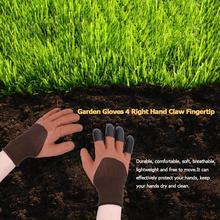 1 пара мягких и дышащих садовых перчаток мягкие и дышащие 4 правой руки коготь для домашняя теплица копания