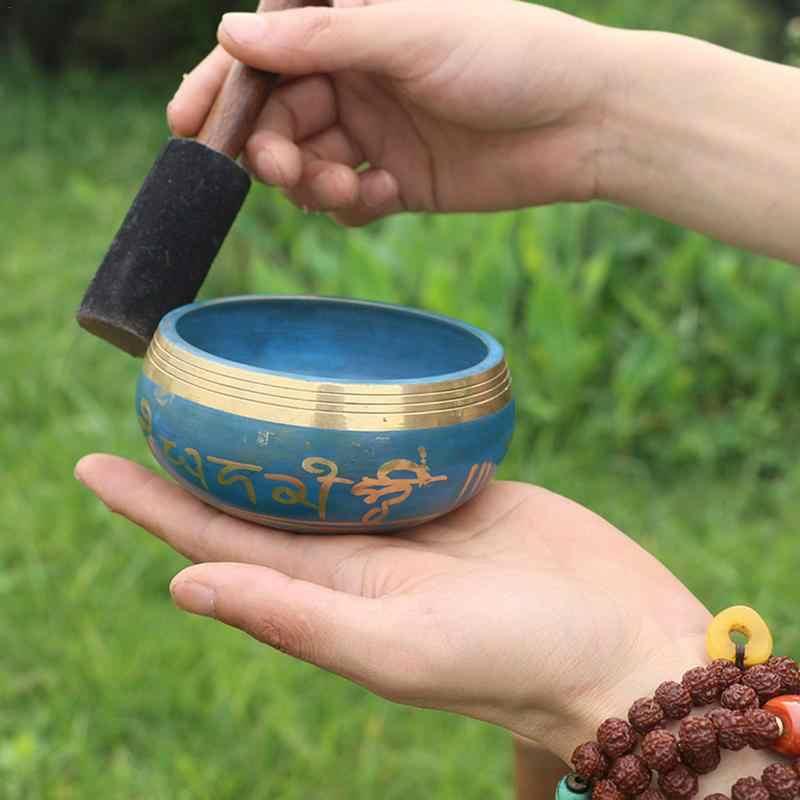 Кольцо медная поющая чаша, буддийская музыкальная чаша, непальская ручная Йога Звуковая Терапия чаша