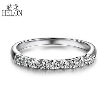 a4730e8839cd HELON céltico anillo sólido 14 K oro blanco VVS FG Color laboratorio crecido