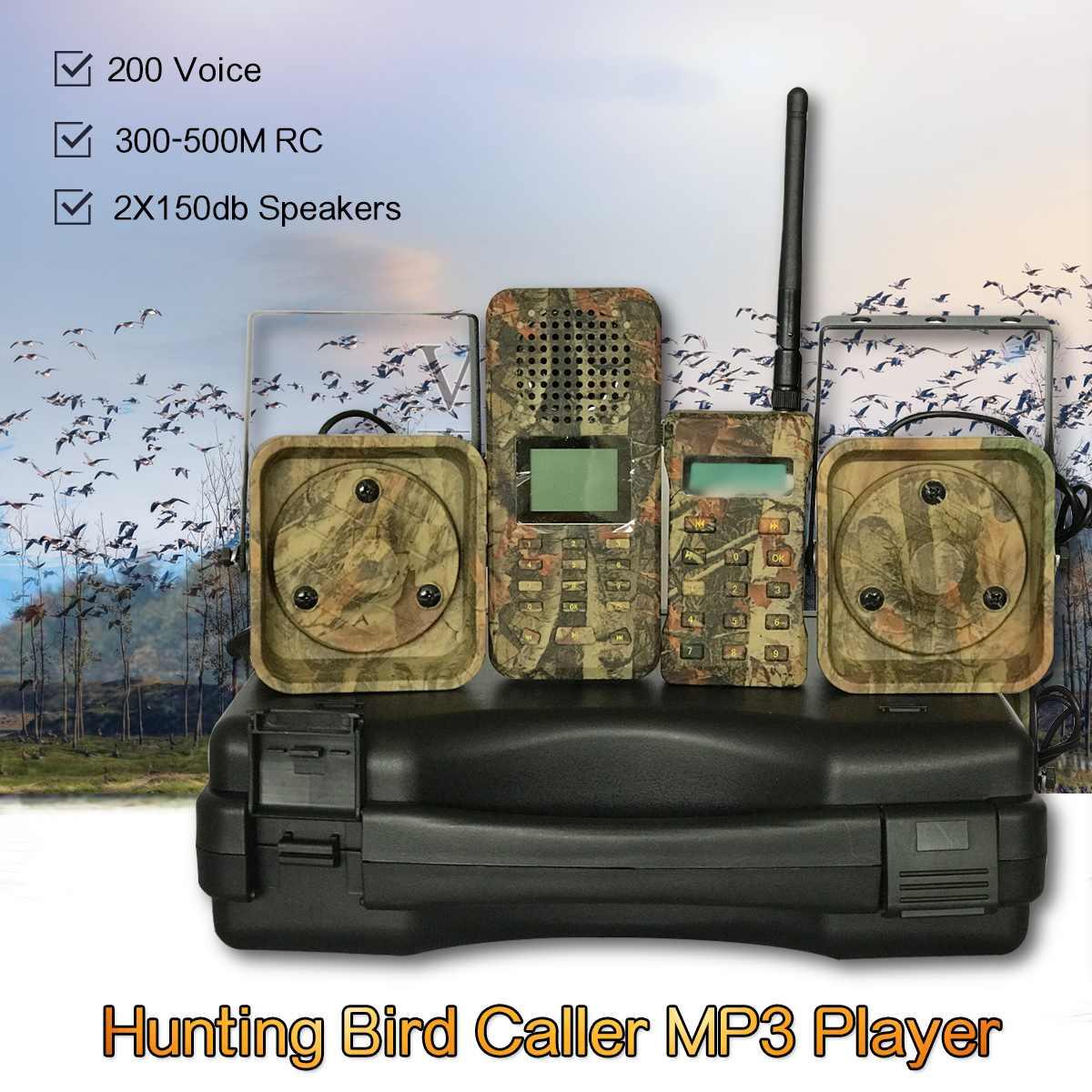2 * 50w 150dB  Loud Speakers 300m-500m Remote Hunting Bird Caller Duck Goose Firrie Sounds Decoy2 * 50w 150dB  Loud Speakers 300m-500m Remote Hunting Bird Caller Duck Goose Firrie Sounds Decoy