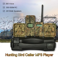 2 * 50w 150dB Loud Speakers 300m 500m Remote Hunting Bird Caller Duck Goose Firrie Sounds Decoy