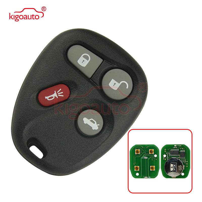 Kigoauto KOBUT1BT remote fob 4 button 315Mhz for GMC Pontiac Chevrolet Cadillac Buick 2001 2002 2003 2004 2005