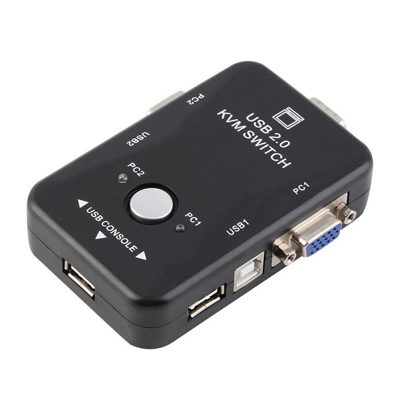2in 1out 2 Port Usb 2.0 Kvm Schalter Switcher 1920*1440 Vga Svga Schalter Splitter Box Für Tastatur Maus Pc Box Adapter Computer-peripheriegeräte