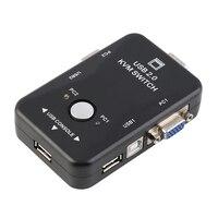 2In 1Out 2 порта USB 2,0 KVM переключатель 1920*1440 VGA переключатель SVGA разветвитель коробка для клавиатуры мышь ПК Коробка адаптер