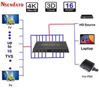 1 в 16 из HDMI 1.4a адаптер Splitter 1X16 4 К x 2 К HDMI v1.4 Switcher конвертер для 3D HD DTS Dobly LPCM7.1 4 К HDTV монитор DVD