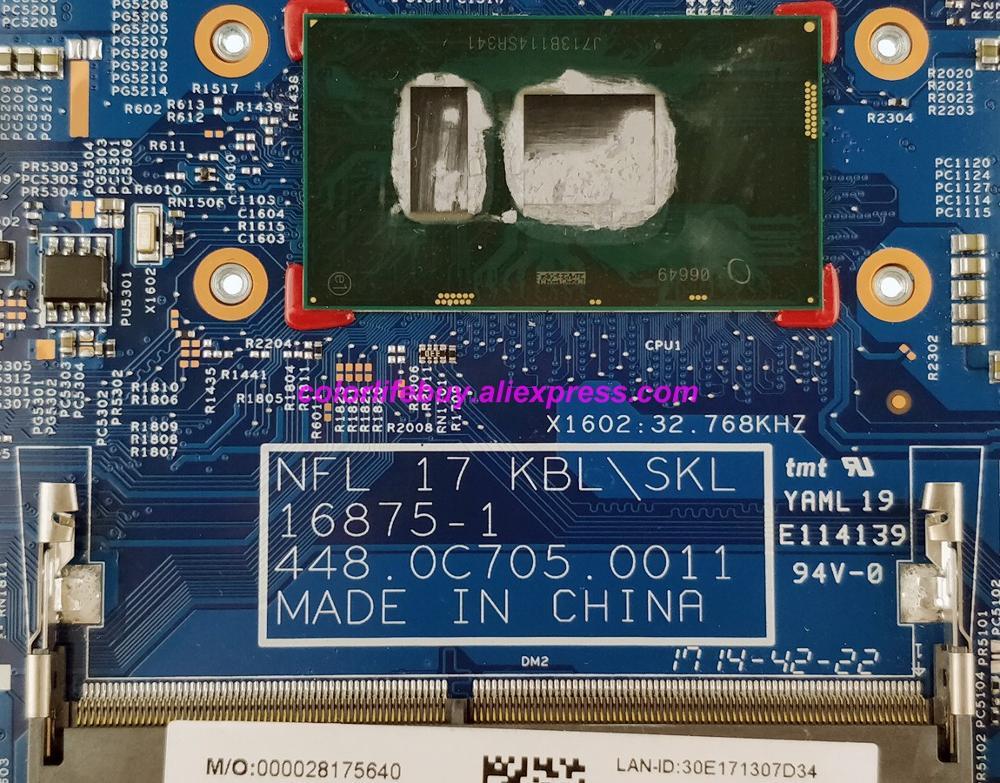 Image 3 - Genuine 925624 601 925624 001 16875 1 448.0C705.0011 i5 7200U Laptop Motherboard for HP 17 17 BS 17T BR000 Series NoteBook PC-in Laptop Motherboard from Computer & Office