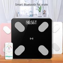 Умные весы для ванной комнаты Точные Электронные цифровые весы жир/мышцы/висцеральные весы для взвешивания жира Bluetooth приложение 0,1-180 кг