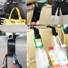 Hight Quality Universal Car Hanger Bag Organizer Hook Seat Headrest Holder Black Accessory(China)