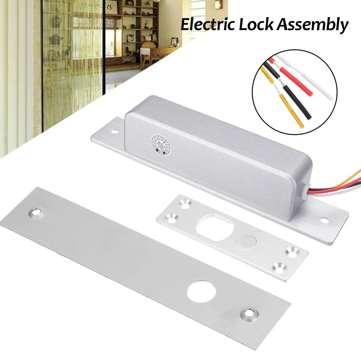 DC 12/24V 4 Wire Electric Lock Assembly Solenoid Magnetic Bolt 0/3/6s Time Delay for Access Control Home SafetyDC 12/24V 4 Wire Electric Lock Assembly Solenoid Magnetic Bolt 0/3/6s Time Delay for Access Control Home Safety