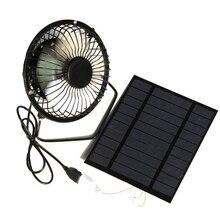 Горячая TOD-2.5W 5 в солнечные панели вентилятор для Дома Офиса улицы путешествия рыбалка 4 дюйма охлаждающая вентиляция вентилятор Usb Новый