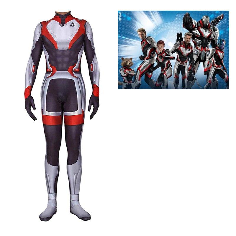 Avengers Endgame Quantum Realm Cosplay Costume Adult Superhero Costume Women Adult Men Halloween Costume For Adult Jumpsuit Suit