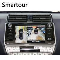 Smartour car 3D Surround View Monitoring System 360 Degree Driving Bird View Panorama Cameras 4 CH DVR Recorder with G sensor