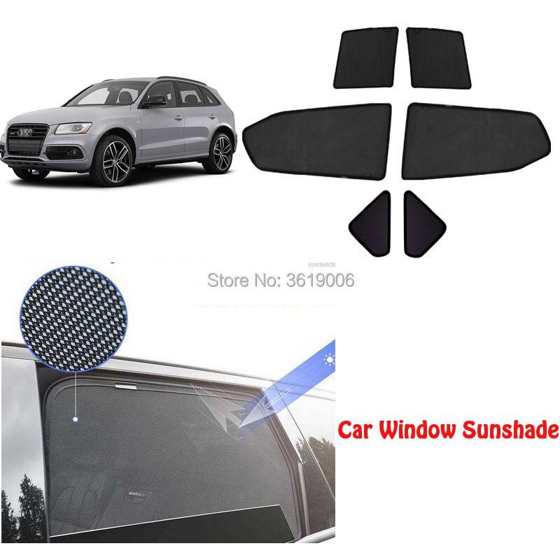 6 pcs Haut de gamme personnalisé Pour Audi A3 Hayon 2014-17 type de carte magnétique voiture rideau pare-soleil ombre fenêtre de la voiture car styling
