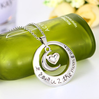 Round Personality Mother's Day Gift MOM Lettering Pendeloque Cut Mother Real Love Accessories CHL553 erd jewelry colar choker