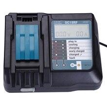 FFYY 14.4V 18v li ion bateria carregador de tensão atual lcd display digital para makita dc18rf bl1830 bl1815 bl1430 dc14sa dc18sc