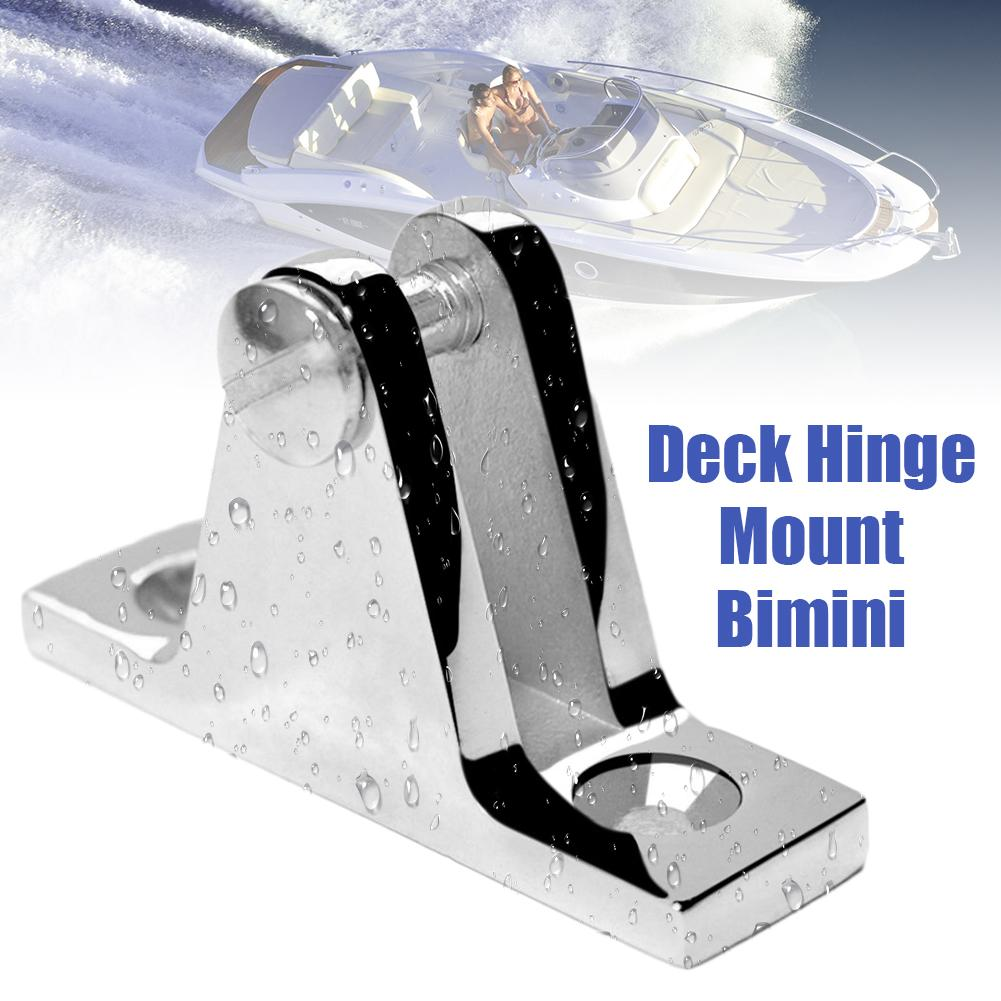 Marine Boat Deck Hinge Mount Bimini Top Fitting Hardware 316 Stainless Steel Sliding Cap Awning Boat Yacht Accessory