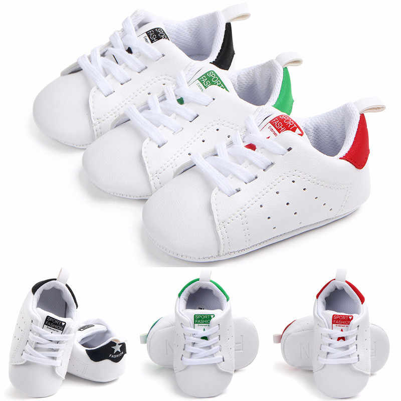 c6d0cad412d7 Detail Feedback Questions about Fashion 0 18M Newborn Baby Girl Boy Soft  Sole Crib Shoes White Sport Shoes PU Lace Up Baby Casual Sneakers Prewalker  on ...