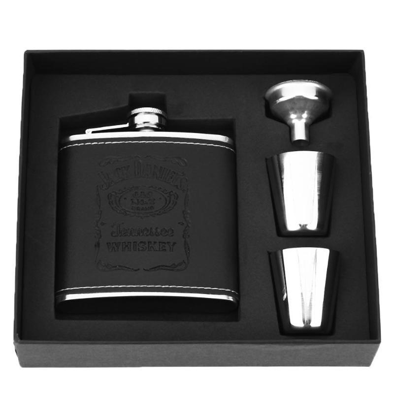 7oz 8oz Stainless Steel Hip Flask Liquor Whisky Alcohol Cap Funnel Drinkware Bottle Best Gift for Man Alcohol Bottle