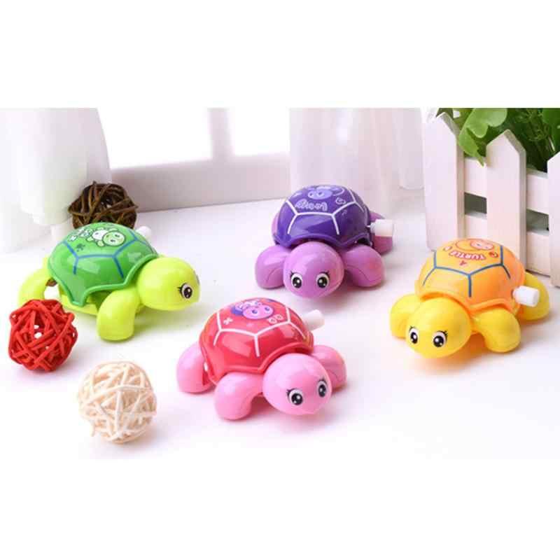 1pc Mini Clockwork เต่าของเล่นเด็กพลาสติกน่ารักสัตว์ Turtle Wind Up ของเล่นการศึกษาการศึกษาของเล่นเด็กสุ่มสี