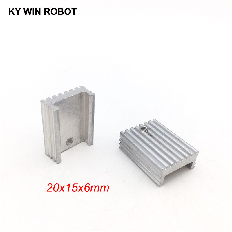 10pcs Free Shipping Aluminium U-Type TO-220 Heatsink TO 220 Heat Sink Transistor Radiator TO220 Cooler Cooling 20*15*6MM