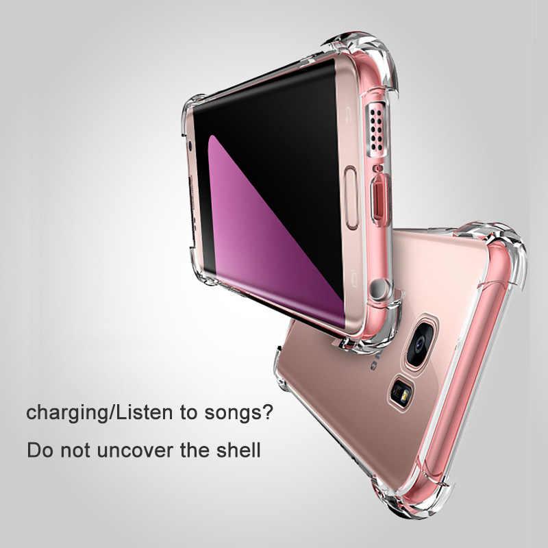 Funda de silicona transparente súper a prueba de golpes para Samsung S8 S9 Plus Note 8 9 J4 J6 Plus A9 A8 Star J3 j5 J7 primer A5 A8 A6 J4 J6 J8 2018