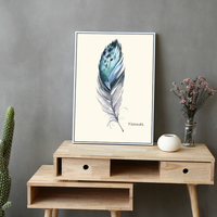Nordic Vintage Bird Feather Poster Removable New DIY Has Frame Fashion Painting Modern Art Canvas Picture Home Wall Decoration